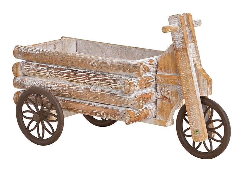 stojan na květináče TRICYCLE 15x24x36 cm, dřevo