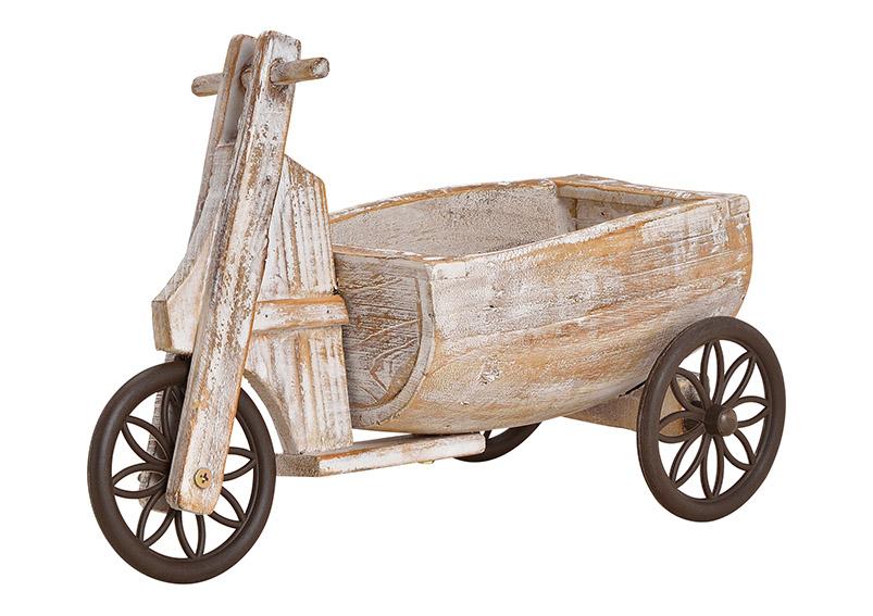stojan na květináče TRICYCLE 14x26x35 cm, dřevo