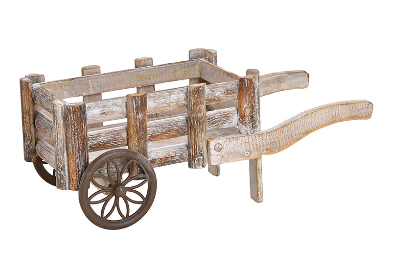 Cart wood brown 17x17x42cm