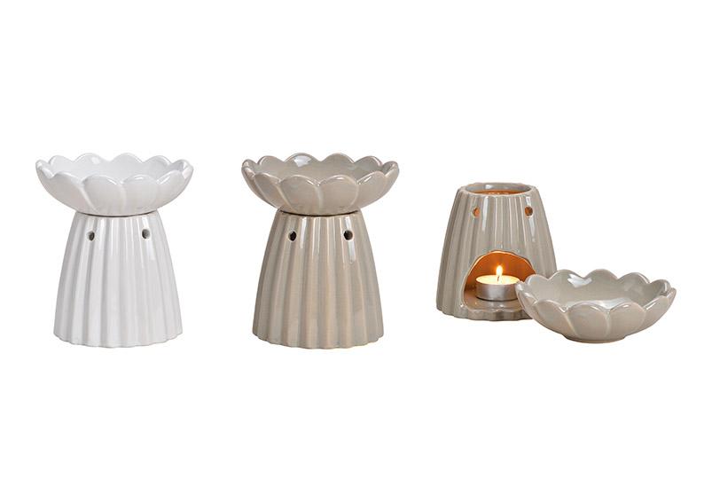 aromalampa 13x14x13cm, keramika - 2 druhy