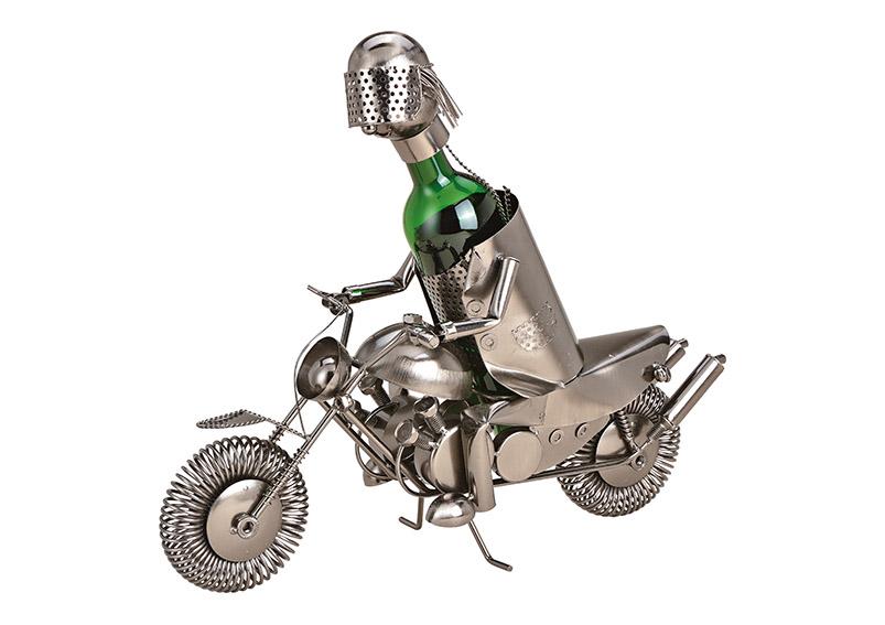 kovový stojan na vínovou láhev MOTORCYCLIST 49x29x18 cm