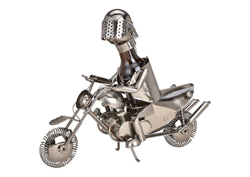 kovový stojan na pivní láhev MOTORCYCLIST 38x22x14 cm