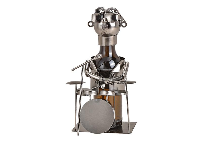 kovový stojan na pivní láhev DRUMMER 13x17x13 cm