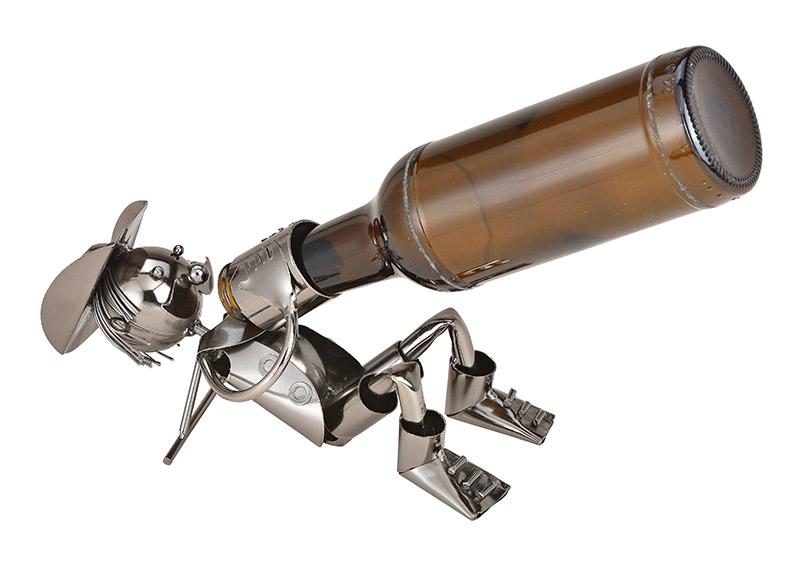 kovový stojan na pivní láhev COWBOY 21x10x10 cm