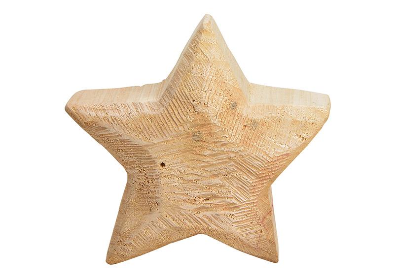 dřevěná hvězda 20x20x6 cm