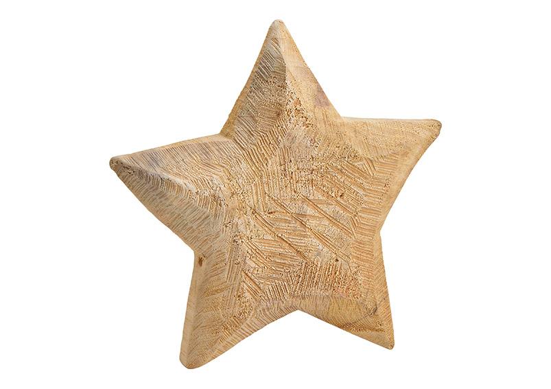 dřevěná hvězda 30x30x3 cm