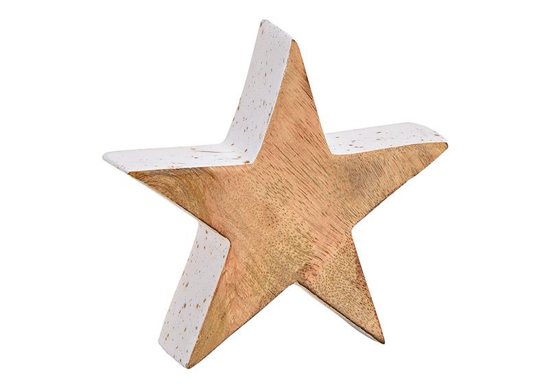 hvězda z mangového dřeva 10x10x2,5 cm