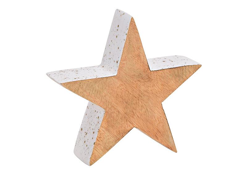 hvězda z mangového dřeva 15x15x3 cm