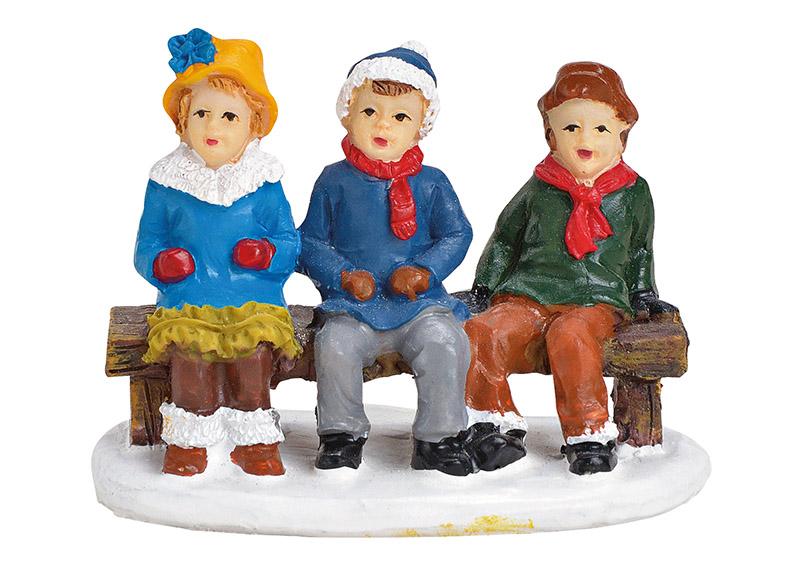 děti na lavičce 6x4x3 cm, polyresin