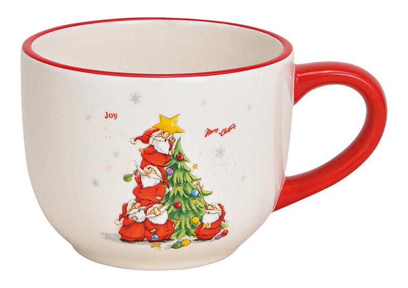 Jumbo Mug Nicholas with Christmas Tree ceramic white 15x9x11cm 500ml