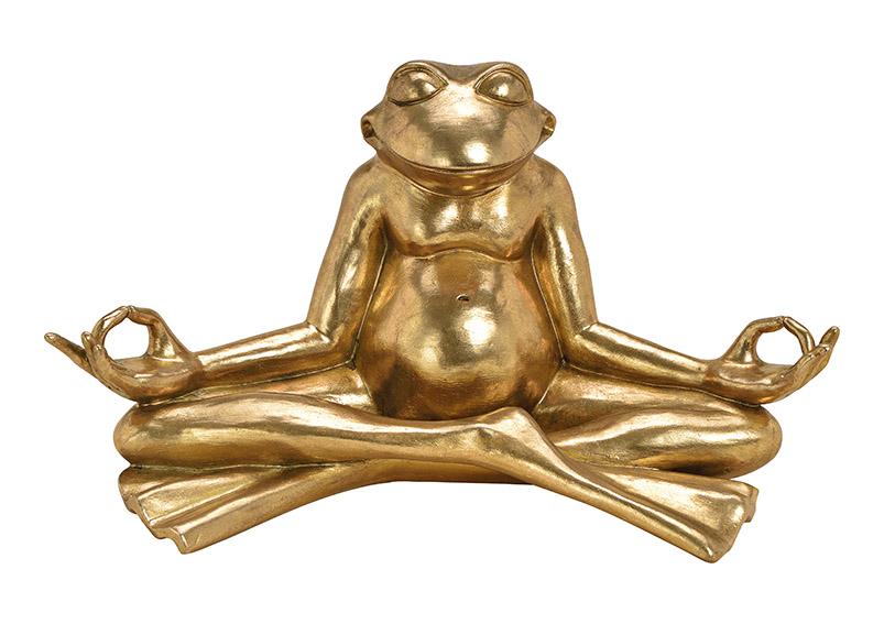 Yoga Frog Poly gold 47x25x26cm