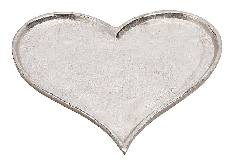 hliníkový tác HEART SILVER 27x26x1 cm