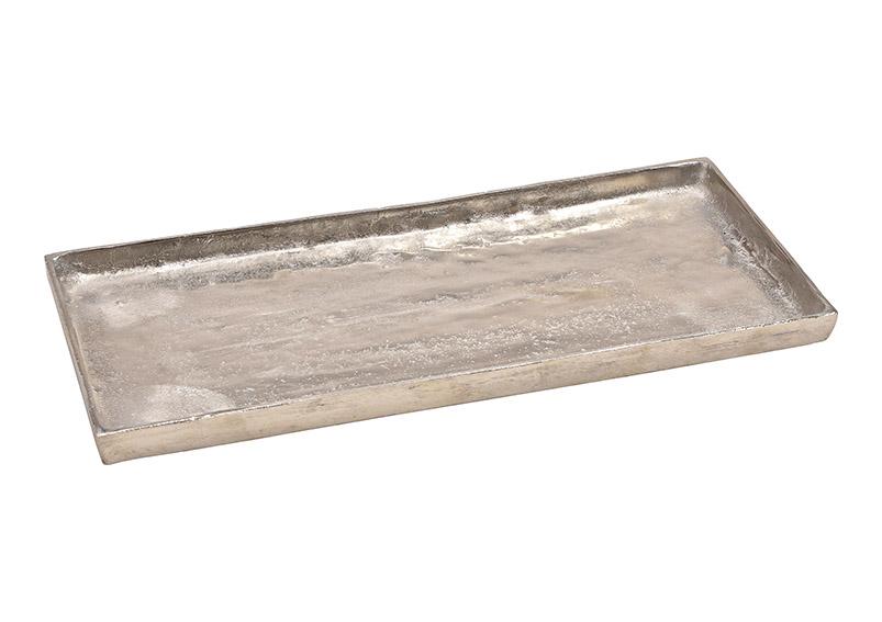hliníkový tác SILVER 45x2x19 cm