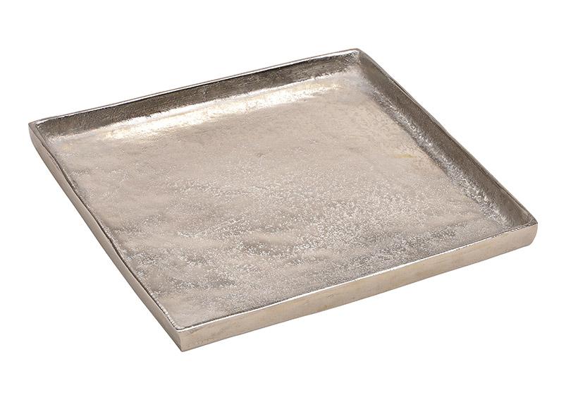 hliníkový tác SILVER 30x2x30 cm