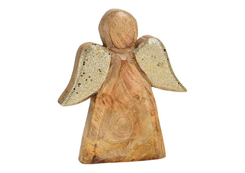 anděl 18x20x2 cm, mangové dřevo