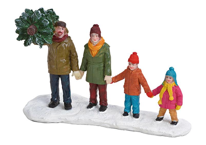 rodina se stromečkem 13x8x6 cm, polyresin