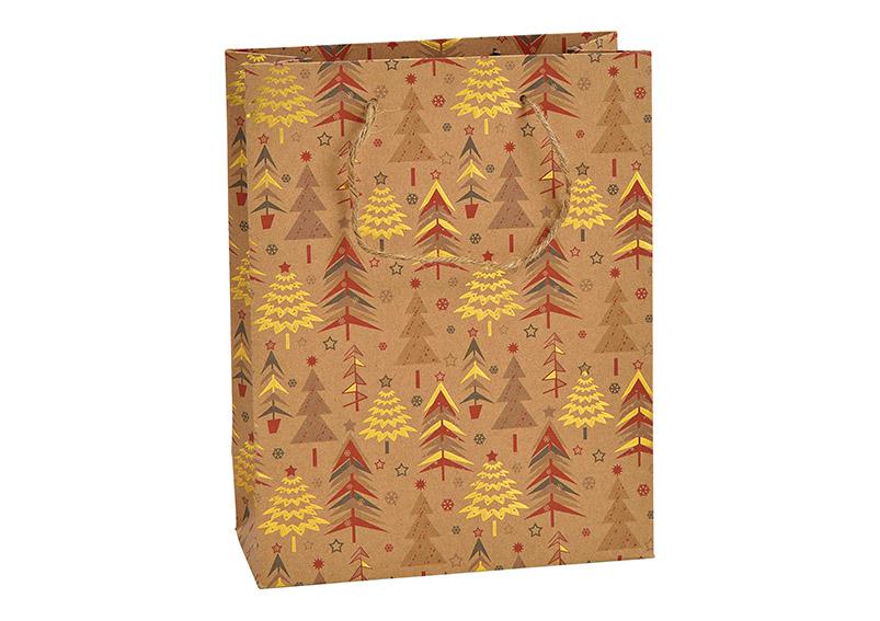 dárková taška WINTER FOREST 18x23x8 cm