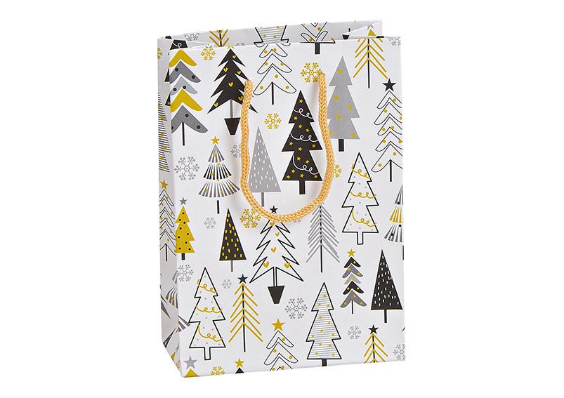 dárková taška WINTER FOREST 11x16x6 cm