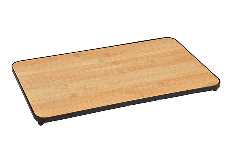 tác 36x20x2 bambusový s kovovém rámu