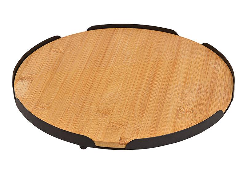 tác  ⌀ 28cm bambusový s kovovém rámu