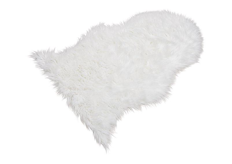 umělá kožešina WHITE 90x60 cm, polyester