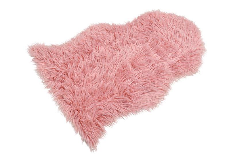 umělá kožešina PINK 90x60 cm, polyester