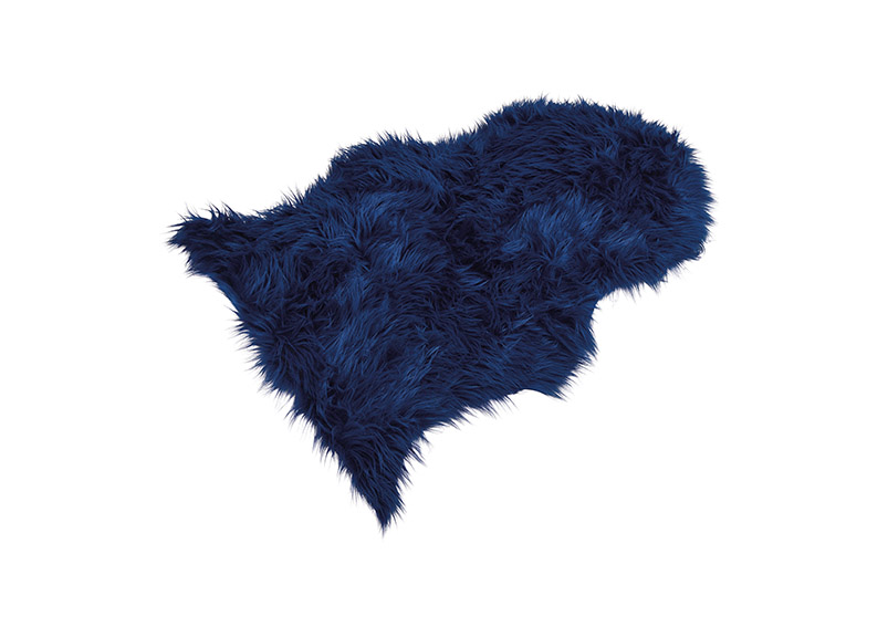 umělá kožešina BLUE 90x60 cm, polyester