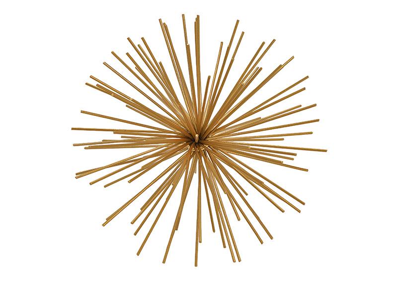 dekorační koule GOLD ⌀ 21 cm, kov
