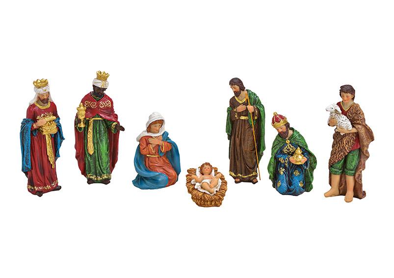 sedm figurek do betlému 5-17 cm, polyresin