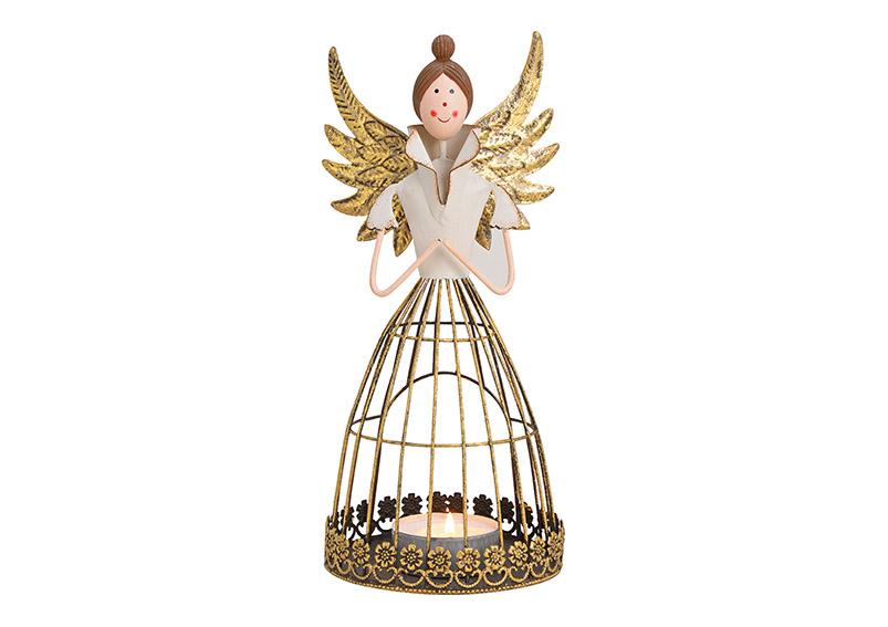 lucerna na čajovou svíčku ANGEL 15x28x12 cm, kov
