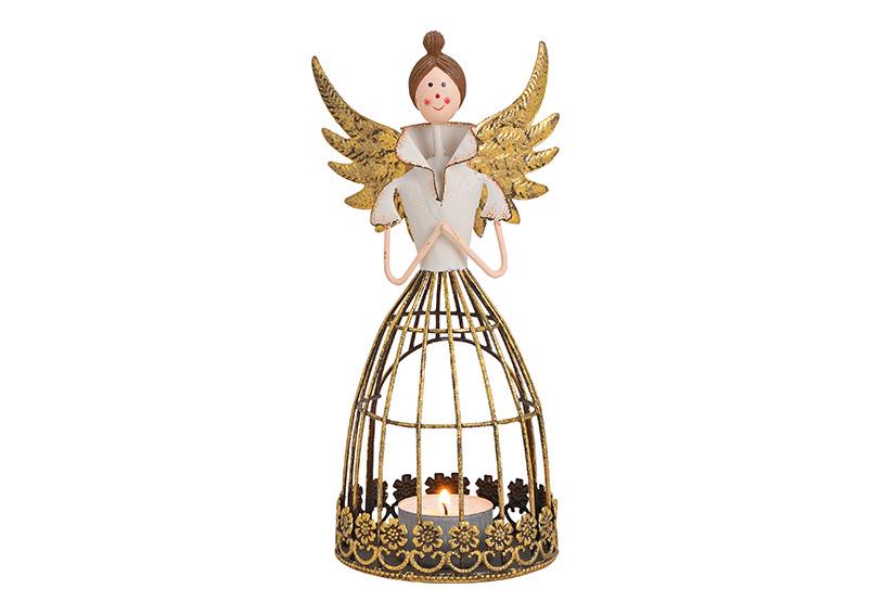 lucerna na čajovou svíčku ANGEL 11x21x9 cm, kov