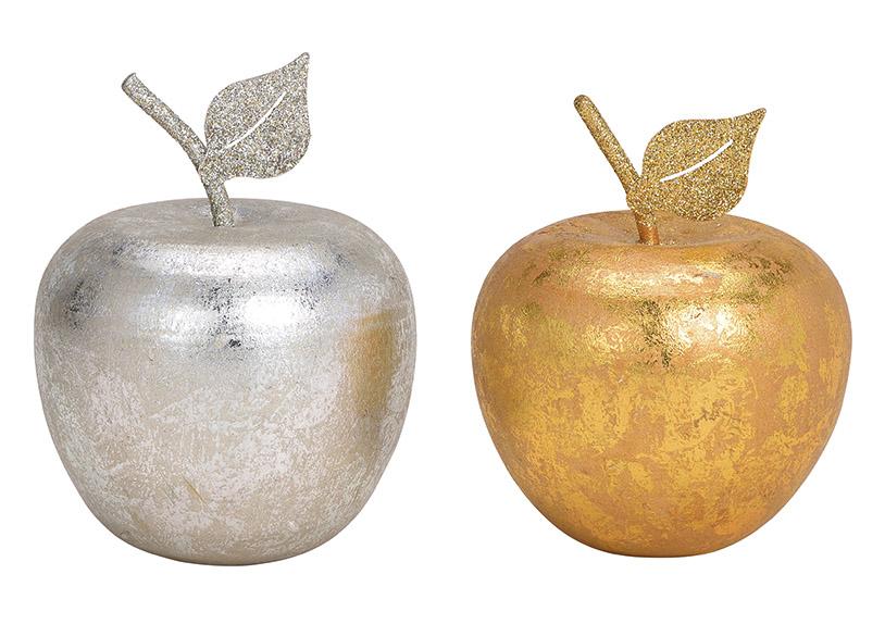 Apple wood gold 8x10x8cm
