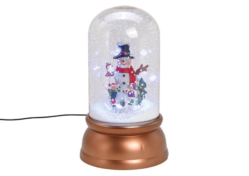 music box sněžítko  s LED osvětlením SNOWMAN 18x30x18 cm, polyresin a plast