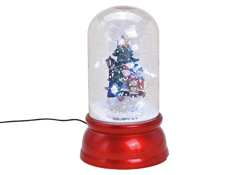 music box sněžítko s LED osvětlením CHRISTMAS TREE 18x30x18 cm, polyresin a plast