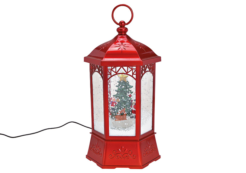 music box LANTERN s LED osvětlením 20x37x20 cm, polyresin a plast