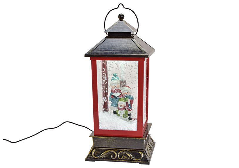music box LANTERN s LED osvětlením 18x42x18 cm, polyresin a plast