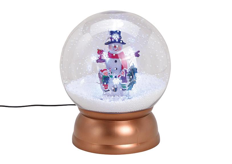 music box sněžítko  s LED osvětlením SNOWMAN 23x28x23 cm, polyresin a plast