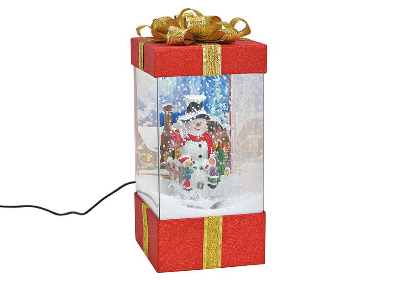 music box GIFTBOX s LED osvětlením 15x32x15 cm, polyresin a plast