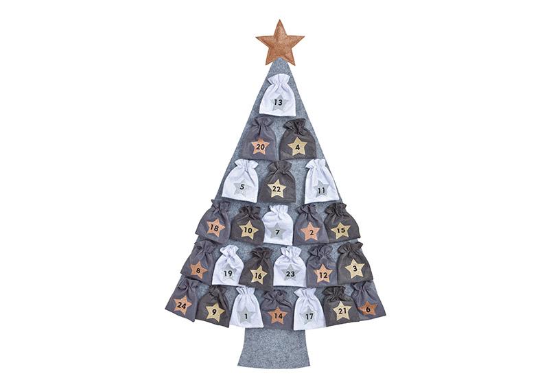 adventní kalendář CHRISTMAS TREE 76x115x3 cm, filc