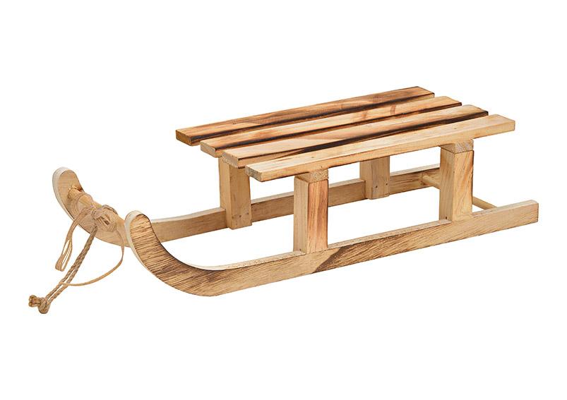 dřevěné sáně 42x10x15 cm