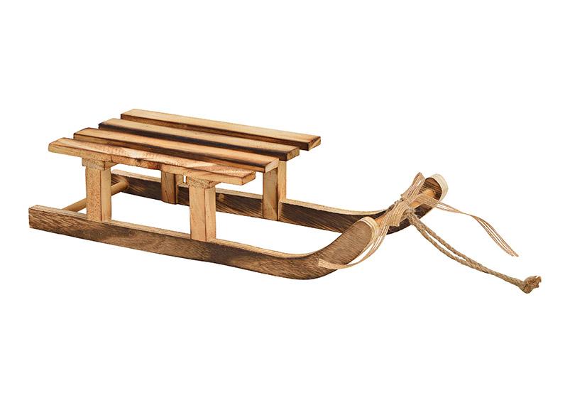 dřevěné sáně 31x7x12 cm