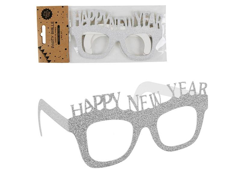 párty brýle HAPPY NEW YEAR, 4 ks