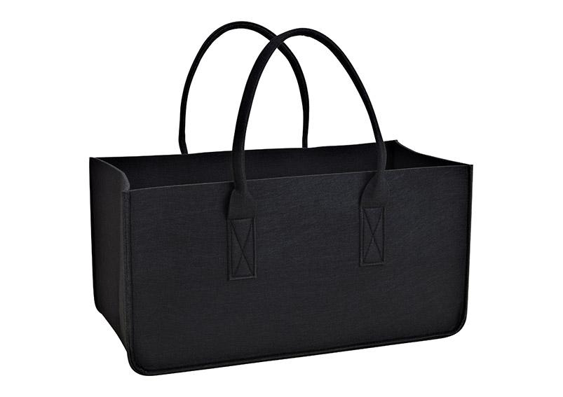filcová taška na dřevo BLACK 50x25x25 cm