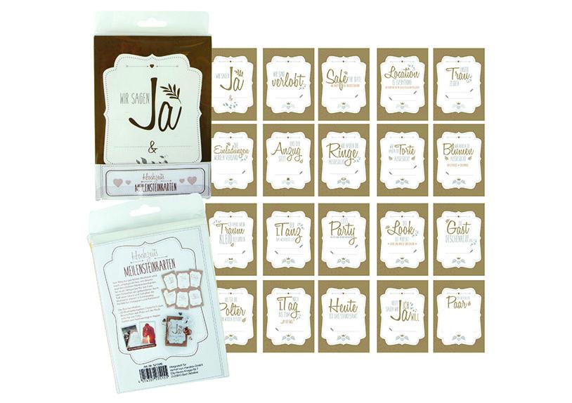 svatební milníky - sada 20 karet, kartonový papír