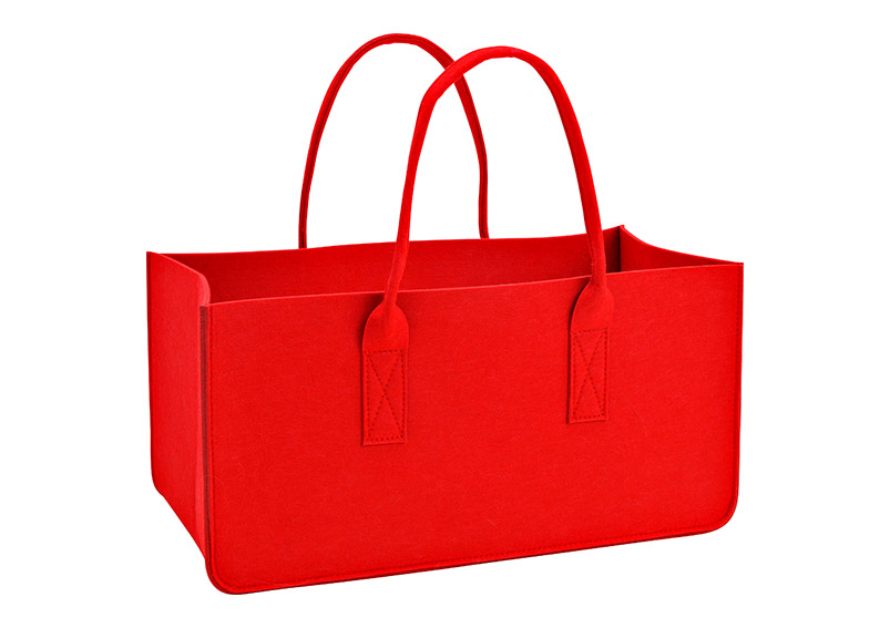 filcová taška na dřevo RED 50x25x25 cm