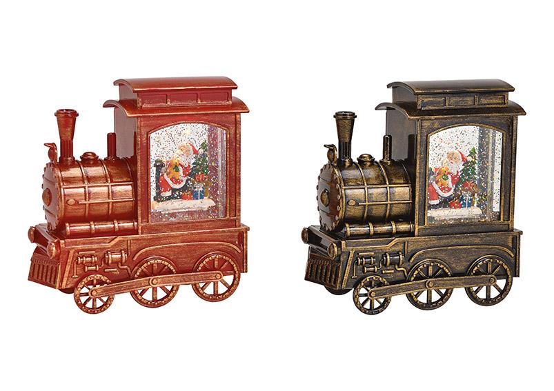 lokomotiva s LED osvětlením 16x17x8 cm, polyresin a plast - 2 druhy
