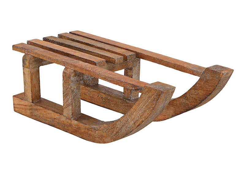 dřevěné sáně 60x21x21 cm