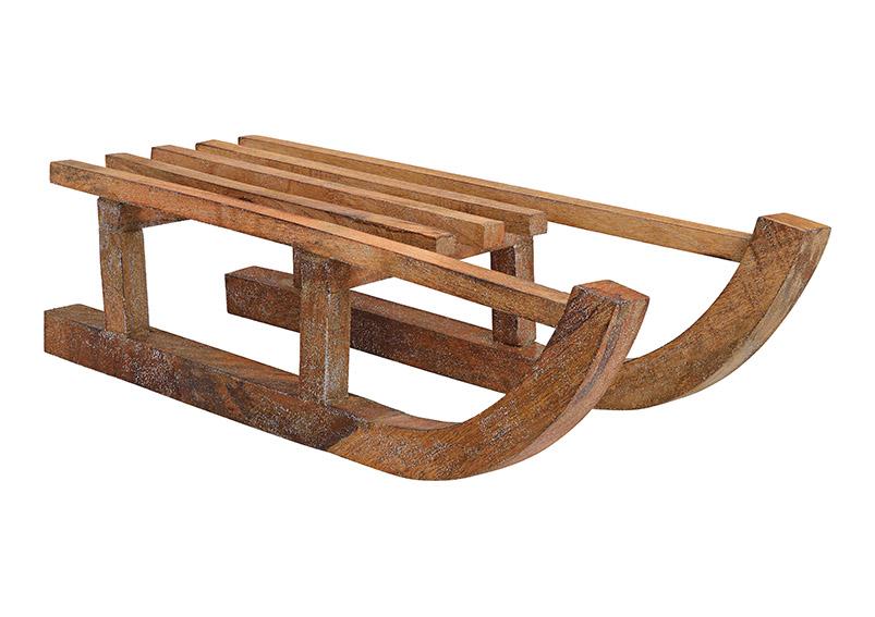 dřevěné sáně 40x15x17 cm