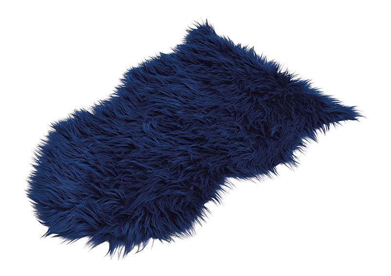 Fake sheepskin blue 80x50cm