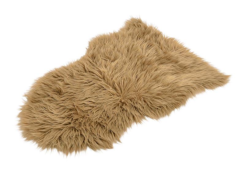 Fake sheepskin light brown 80x50cm